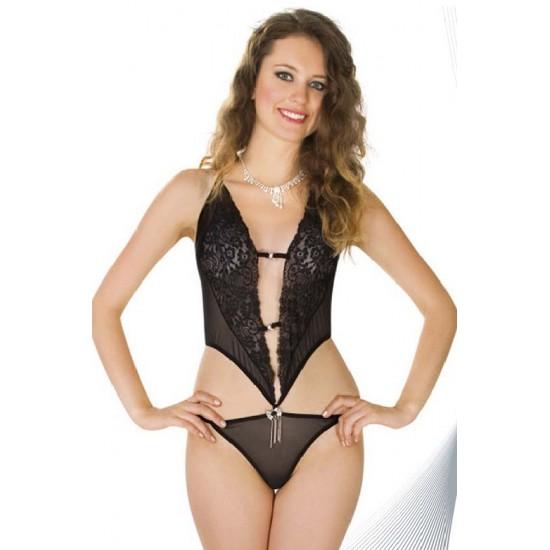 Leyna Siyah Dantelli Babydoll TM0920