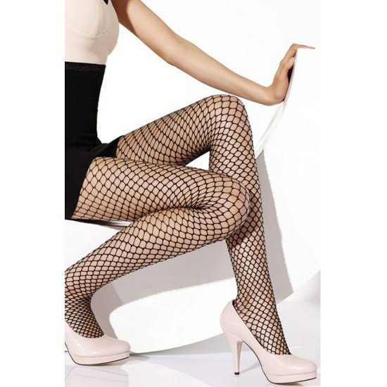 Leyna Siyah File Külotlu Çorap