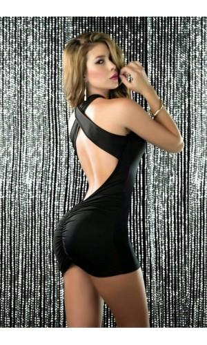 Leyna Siyah Seksi Mini Elbise TM8035