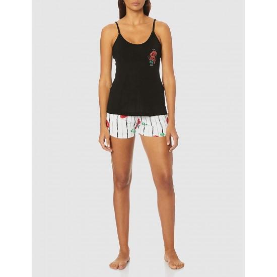 TeniModa TM1157S Siyah Şortlu Pijama Takımı