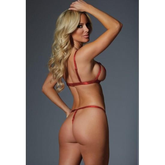 Ni̇ghtli̇ght Lastikli Seksi Sütyen Külot Harness 4318