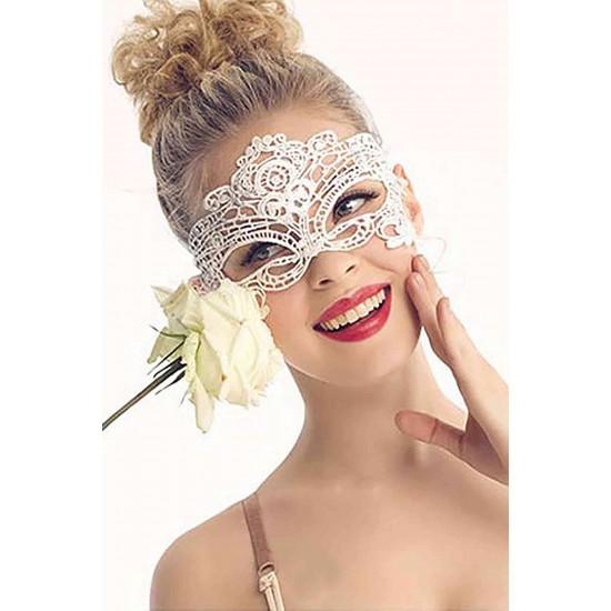Merry See Beyaz Dantel Göz Maskesi MS0349-1