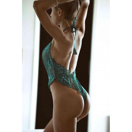 Merry See Yeşil Seksi Body İç Giyim MS3126