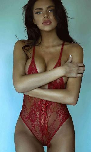 Merry See Dantel Fantezi İç Giyim Kırmızı MS3182-Kırmızı