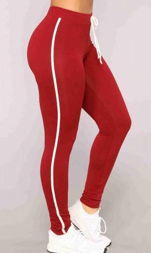 Merry See Penye Eşofman Pijama Alt Kırmızı MS40499-Kırmızı