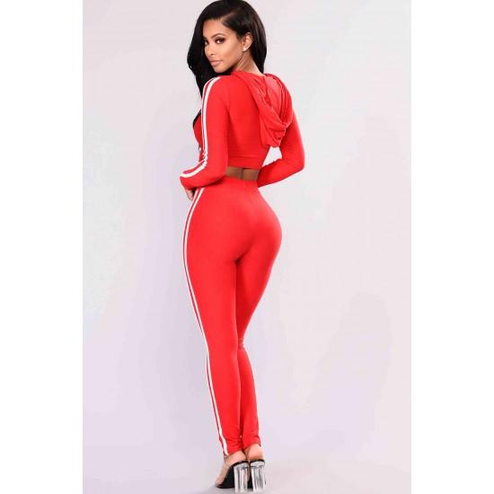 Merry See Penye Eşofman Pijama Takım Kırmızı MS4050-Kırmızı