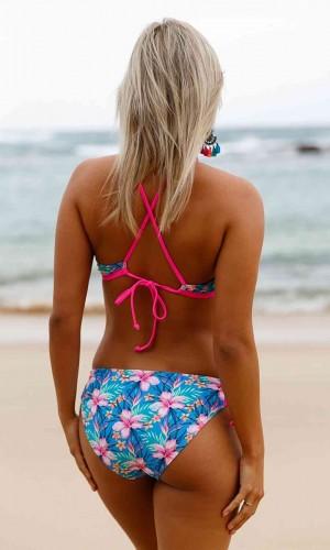 Angelsin Çiçekli Renkli Bikini Alt
