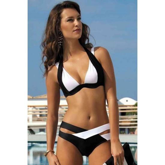 Angelsin Siyah Beyaz Bikini Alt MS41248