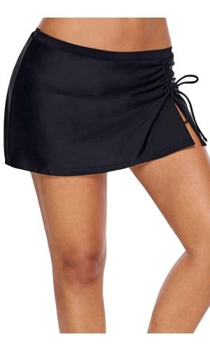 Angelsin Etekli Bütün Bikini Alt Siyah MS4139-Siyah