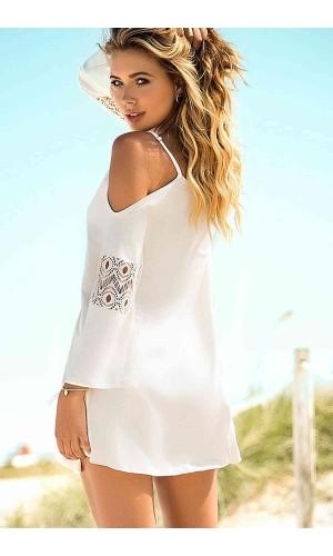 Angelsin Beyaz Şık Pareo MS4250