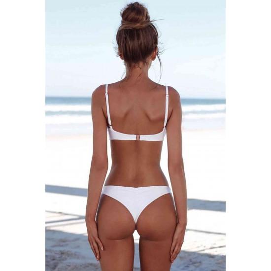 Angelsin Beyaz Şık Bikini Takım MS4255