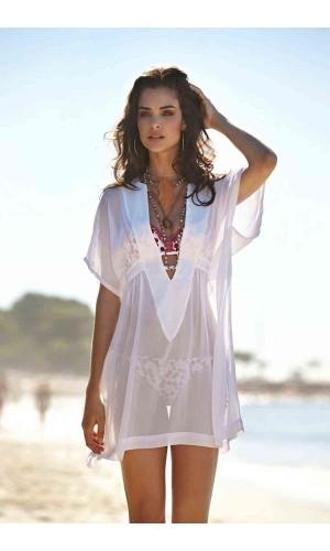 Angelsin Şık Beyaz Pareo MS4283