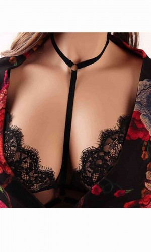 Merry See Siyah Dantel Bralet Sütyen MS4328