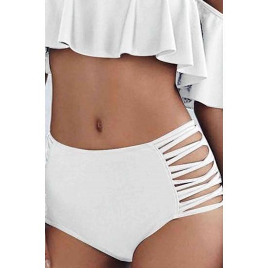 Angelsin Beyaz Çok Şık Bikini Alt MS4530