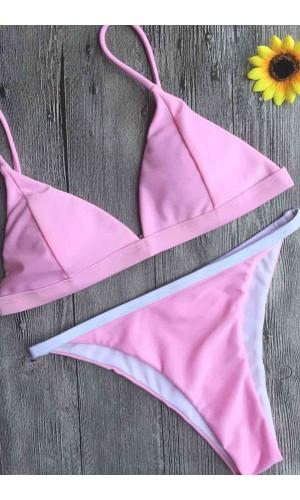 Angelsin Açık Pembe Bikini Takım MS4579