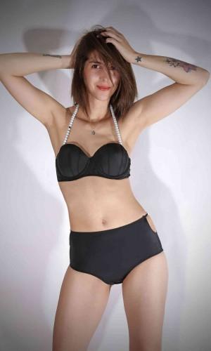 Angelsin Boncuklu Bikini Üst MS46212-2