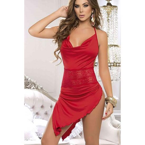 Merry See Kırmızı Arkadan Açık Fantazi Giyim MS5134-2