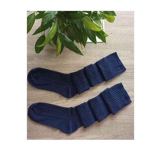 Merry See Parfümlü Örgü Diz Üstü Çorap Lacivert MS7800-Lacivert