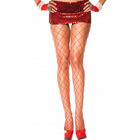 Merry See Fileli Çorap Kırmızı MS79740-Kırmızı
