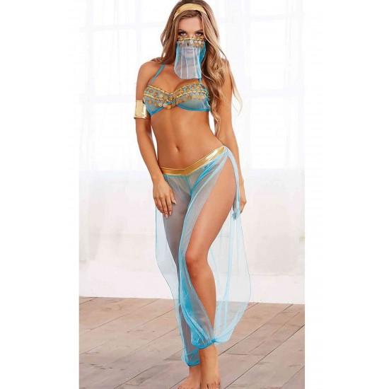 Merry See Mavi Dansöz Kostümü MS8006