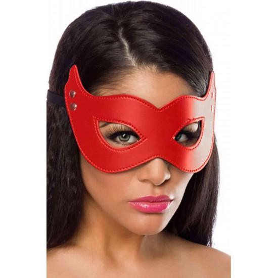 Merry See Kırmızı Deri Maske MS8052