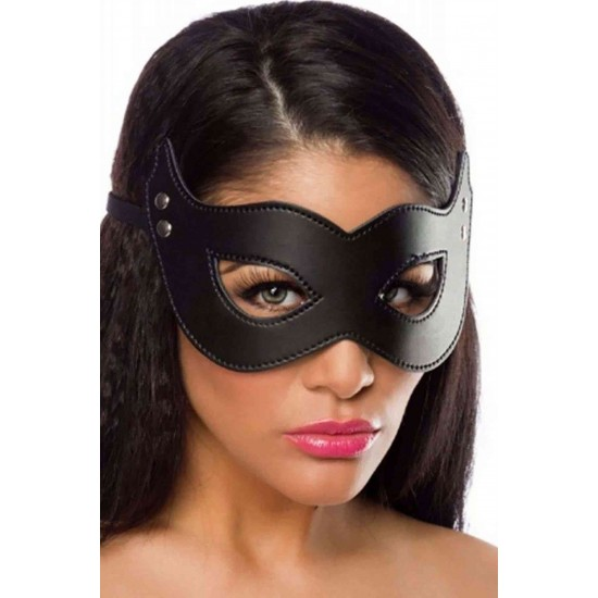 Merry See Siyah Deri Maske MS8053