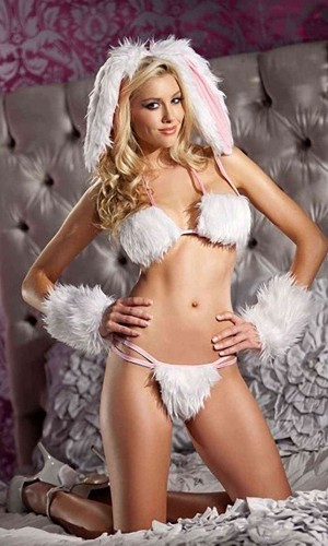 Merry See Tüylü Tavşan Kız Kostümü MS8602