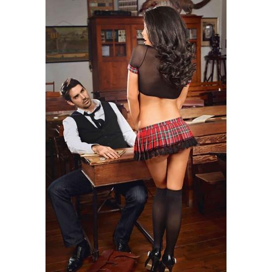 Merry See Erotik Liseli Kız Kostümü MS8704