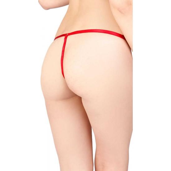 Vixson Kırmızı Sexy İncili Külot