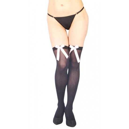 Vixson Pembe Kurdeleli Seksi Diz Üstü Çorap VN-1061
