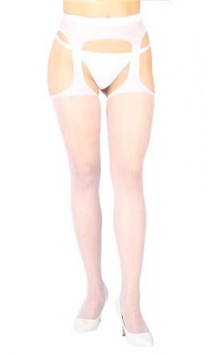Leyna Beyaz Özel Bölgeleri Açık Fantazi Çorap TM1054